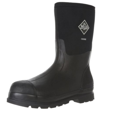 Black synthetic Muck Chore Classic Men's Rubber Work Boots