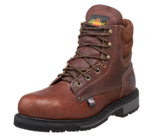 Thorogood work boots are built safe with a solid safety toe