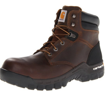 Brown leather Carhartt Men's CMF6366 6 Inch Composite Toe Boot
