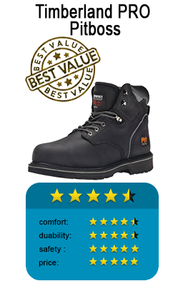 Best work boot in black color