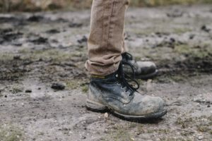 Best steel toe work boots are muddy